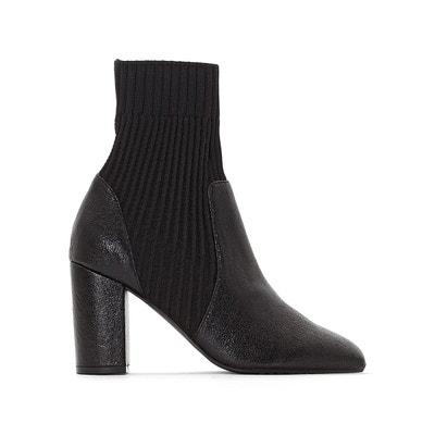 Boots chaussette à talon haut La Redoute Collections