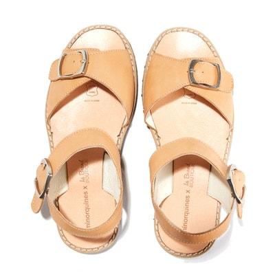 Platte sandalen met metalen gesp AVARCA BOUCLE MINORQUINES