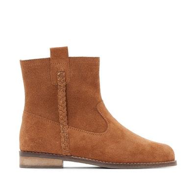 Boots zippées en cuir 26-39 La Redoute Collections