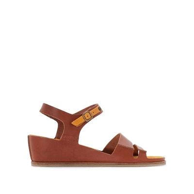 Leren sandalen met sleehak TAKTIME KICKERS