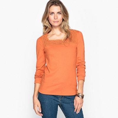 T-shirt con scollo rotondo tinta unita, maniche lunghe T-shirt con scollo rotondo tinta unita, maniche lunghe ANNE WEYBURN