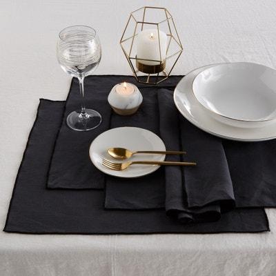 Tafelset in verwassen linnen Taraka (set van 4) Tafelset in verwassen linnen Taraka (set van 4) AM.PM.
