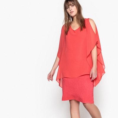 Dress with Voile Overlay CASTALUNA