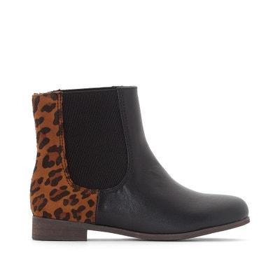 Leopard-Print Boots, 28-39 La Redoute Collections