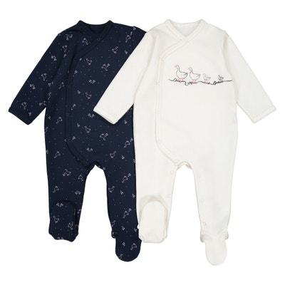Lot de 2 pyjamas naissance en molleton Préma-2 ans Lot de 2 pyjamas naissance en molleton Préma-2 ans La Redoute Collections