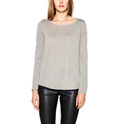 Pullover, runder Ausschnitt, Feinstrick ESPRIT