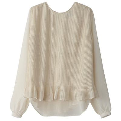Langärmelige Bluse mit Rundhalsausschnitt, unifarben Langärmelige Bluse mit Rundhalsausschnitt, unifarben SCHOOL RAG