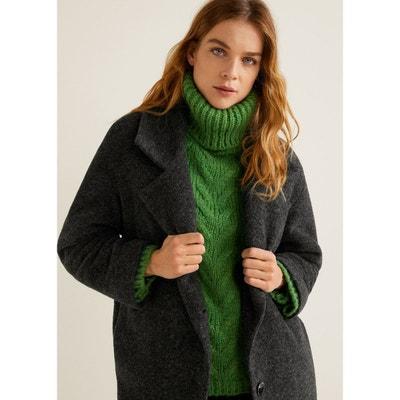 Manteau déstructuré laine vierge Manteau déstructuré laine vierge MANGO 72896055ed6d