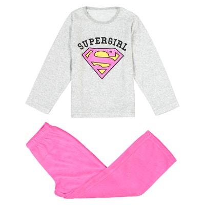 Pyjama in fluweel met cape, 4-10 jaar DC COMICS