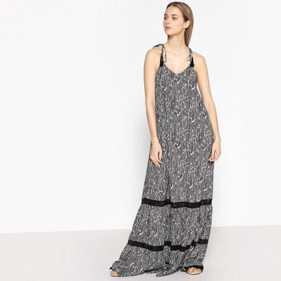 Платье длинное с этническим рисунком и открытой спинкой Платье длинное с этническим рисунком и открытой спинкой La Redoute Collections