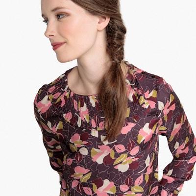 Blusa con cuello plisado y estampado de flores Blusa con cuello plisado y estampado de flores La Redoute Collections