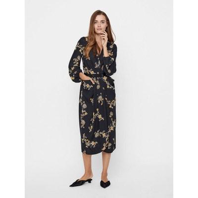 413144486c752 Robe mi-longue Portefeuille à fleurs Robe mi-longue Portefeuille à fleurs  YAS
