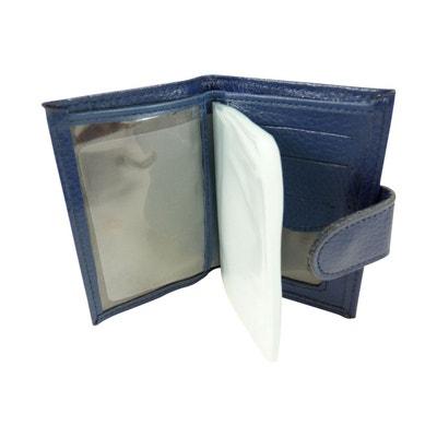 Porte carte credit, fidelité, visite avec pochette plastifiée 24 CB en cuir Porte carte credit, fidelité, visite avec pochette plastifiée 24 CB en cuir CHAUSSMARO