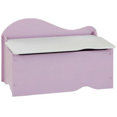 banc et coffre de rangement en bois rose character world - Coffre A Jouets Banc