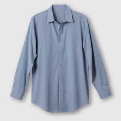 Camisa em popelina, estatura 2 (entre 1m76 e 1m87) Camisa em popelina, estatura 2 (entre 1m76 e 1m87) CASTALUNA FOR MEN