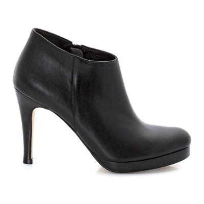 Ботинки низкие на высоких каблуках, с застежками на молнию Ботинки низкие на высоких каблуках, с застежками на молнию JONAK