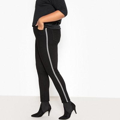 e616ba2fd3031 Jean slim, bandes côtés jambes CASTALUNA. Soldes