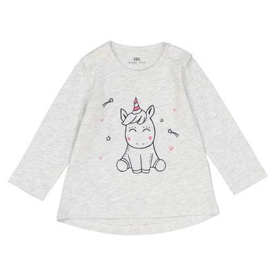 T-shirt imprimé licorne 1 mois - 3 ans T-shirt imprimé licorne 1 mois - 3 ans La Redoute Collections