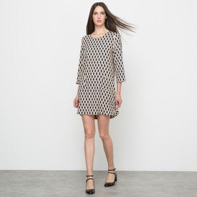 Kleid, bedruckt, 3/4-Ärmel SUNCOO