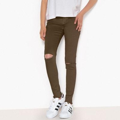 Pantalon skinny déchiré 10-16 ans Pantalon skinny déchiré 10-16 ans LA  REDOUTE 8fa05a8bdf6a