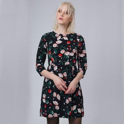 Kurzes Kleid mit Blumenmuster und 3/4-Ärmeln Kurzes Kleid mit Blumenmuster und 3/4-Ärmeln COMPANIA FANTASTICA