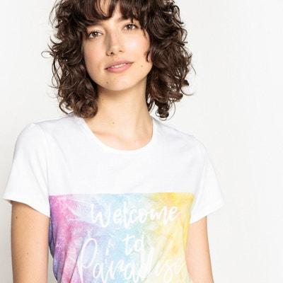 T-shirt fantasia, scollo rotondo, maniche corte T-shirt fantasia, scollo rotondo, maniche corte La Redoute Collections