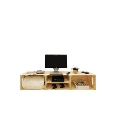 Meuble TV - Meuble TV design, blanc, d\'angle Simply a box | La Redoute