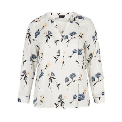 Blusa com decote em V, estampado floral Blusa com decote em V, estampado floral ZIZZI