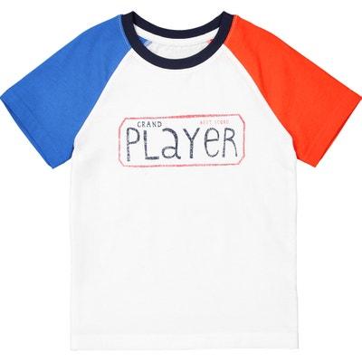 Camiseta tricolor con motivo, 3-12 años La Redoute Collections