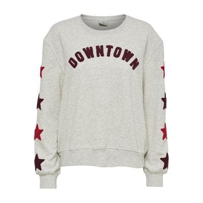 Sweatshirt, runder Ausschnitt, Aufdruck vorne Sweatshirt, runder Ausschnitt, Aufdruck vorne ONLY