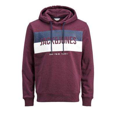Sweater met kap en print vooraan, JCOBLOCK Sweater met kap en print vooraan, JCOBLOCK JACK & JONES