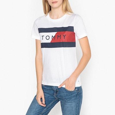 Tee shirt col rond, imprimé devant TOMMY HILFIGER
