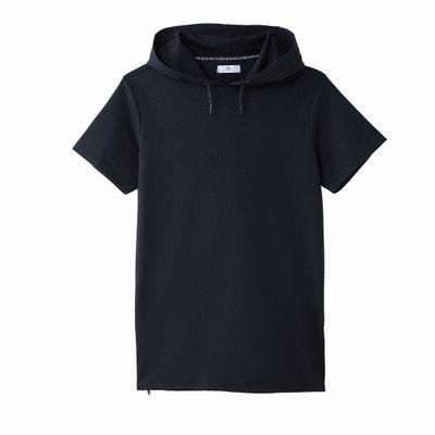 T-shirt maniche corte con cappuccio T-shirt maniche corte con cappuccio La Redoute Collections