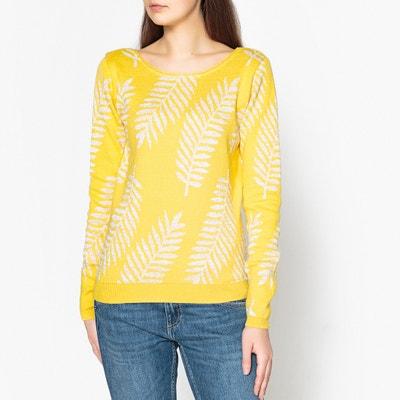 Trui in fijn jacquard tricot, PALME D'OR Trui in fijn jacquard tricot, PALME D'OR BLUNE