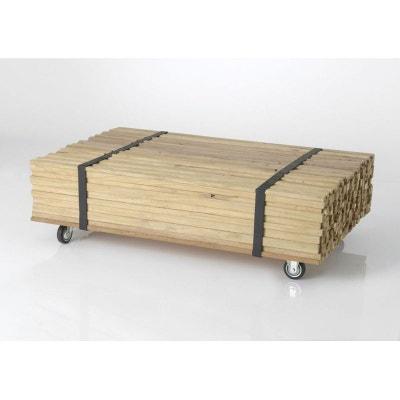 Table basse bois naturel la redoute for Table basse bois naturel