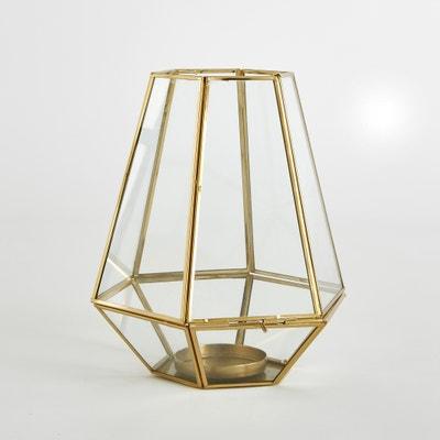 Miludi Glass and Metal Tea Light Holder La Redoute Interieurs
