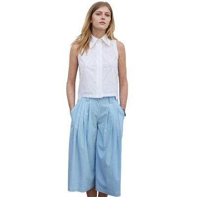 Jupe culotte Bleu ciel de saison pantacourt pantalon large Jupe culotte  Bleu ciel de saison pantacourt. SUNDAY LIFE 56c19ae204ab