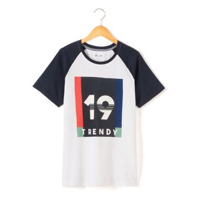 T-shirt estampada com gola redonda, mangas curtas T-shirt estampada com gola redonda, mangas curtas La Redoute Collections