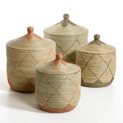 Panier paille de riz grand modèle H60 cm, Louna AM.PM