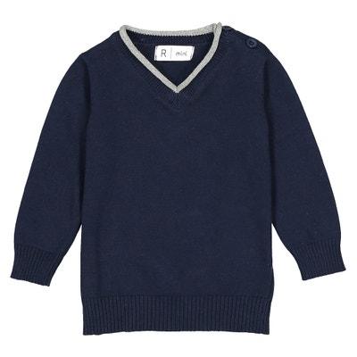 Pull scollo a V maglia fine - 1 mese - 3 anni Oeko Tex La Redoute Collections