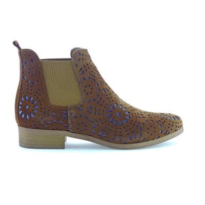 Boots cuir effet ajouré Zola Boots cuir effet ajouré Zola BUNKER