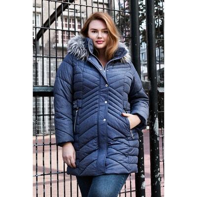 Manteau d'hiver matelassé avec col en fausse fourrure Manteau d'hiver matelassé avec col en fausse fourrure MS MODE