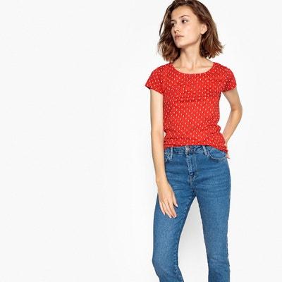 Tshirt estampada de gola redonda, mangas curtas BERANGERE
