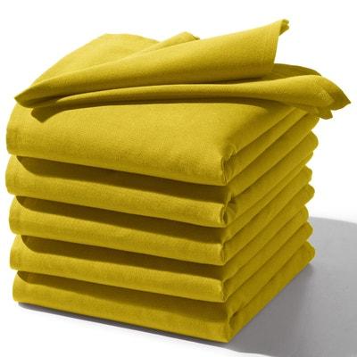 6er-Pack Servietten, uni, reine Baumwolle 6er-Pack Servietten, uni, reine Baumwolle SCENARIO