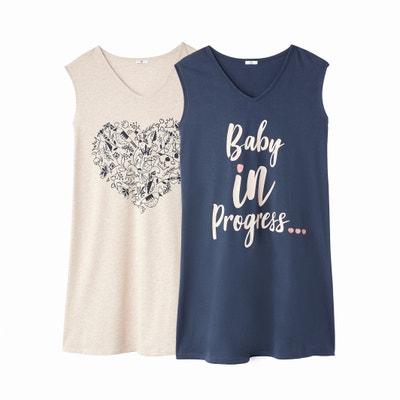 Lote de 2 T-shirts compridas, especial grávida Lote de 2 T-shirts compridas, especial grávida LA REDOUTE MATERNITE