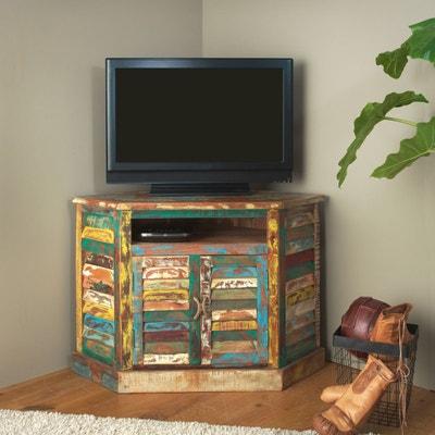 Meuble TV d'Angle Ethnik Bois recyclé coloré  |  MK21 MADE IN MEUBLES