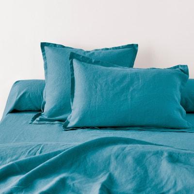 Federa per guanciale tinta unita in puro lino lavato Federa per guanciale tinta unita in puro lino lavato La Redoute Interieurs