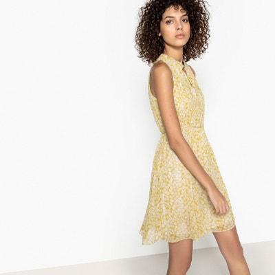 Short Sleeveless Floral Print Shift Dress SEE U SOON