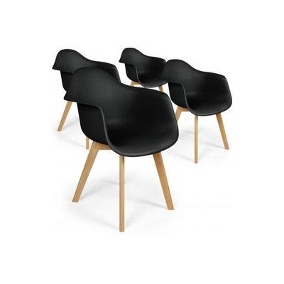lot de 4 chaises scandinaves avec accoudoirs noires fjord lot de 4 chaises scandinaves avec accoudoirs - Chaise Accoudoir Scandinave