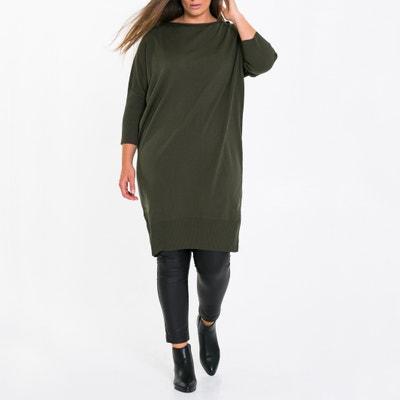 Feinstrick-Kleid mit Fledermausärmeln Feinstrick-Kleid mit Fledermausärmeln MAT FASHION